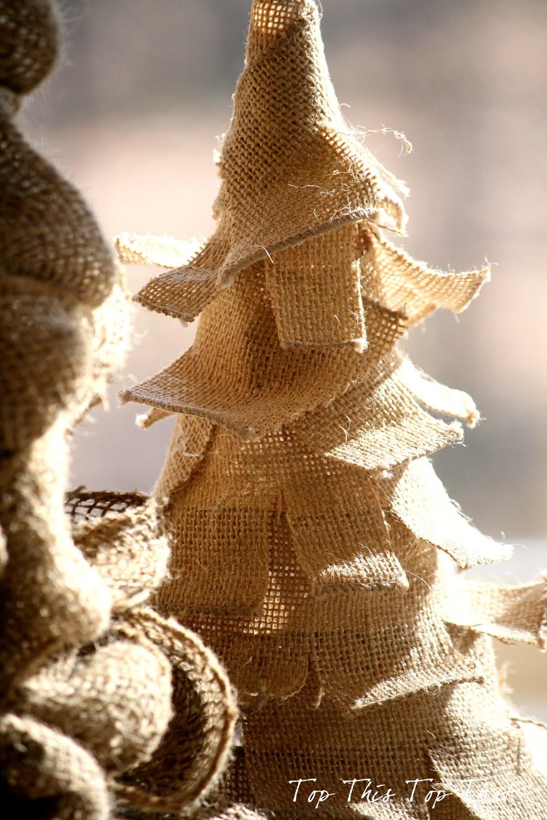 3 easy diy burlap trees duke manor farm for Burlap crafts