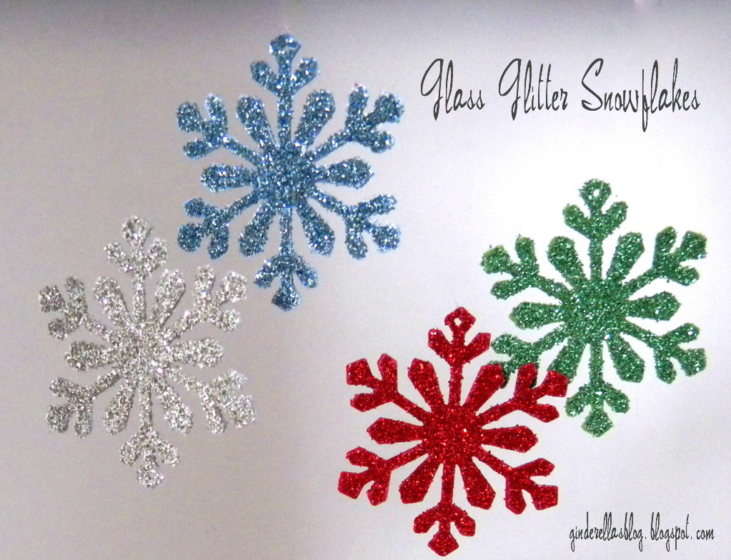 Christmas snowflake ornaments - Diy Glitter Snowflake Ornaments