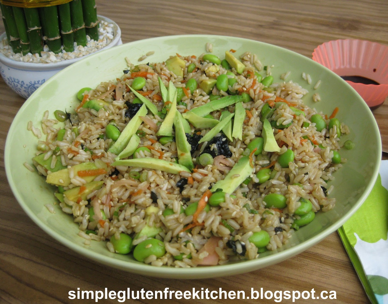 Vegetarian Sushi Salad | Simple Gluten Free Kitchen