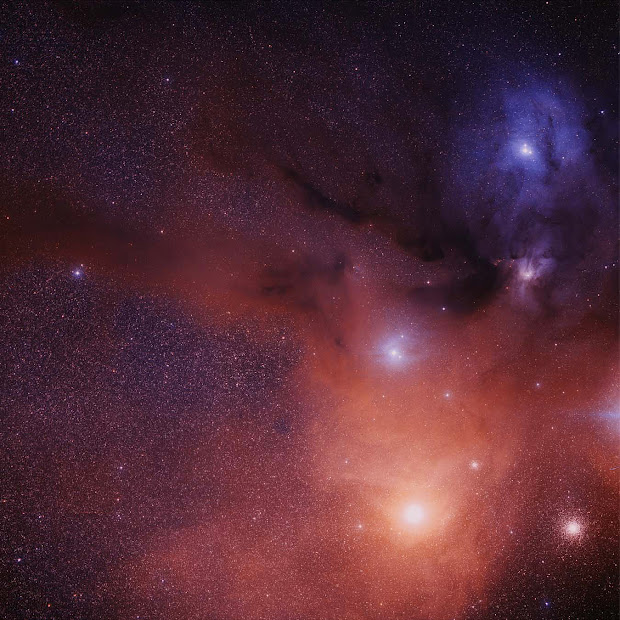 Gorgeous DSS2 image of the area around Antares in Scorpio