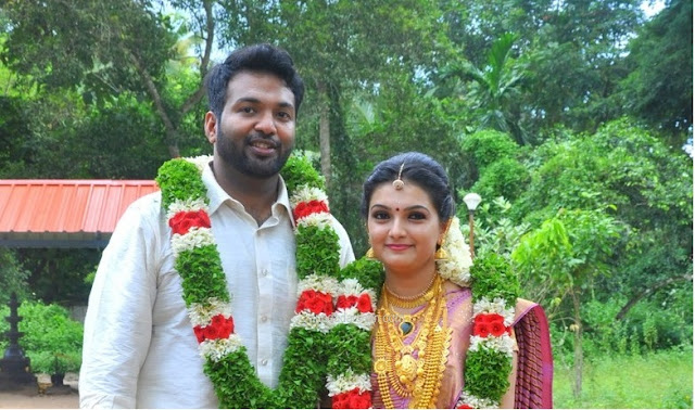 Actress Saranya Mohan married Aravind Krishnan on September 6, 2015