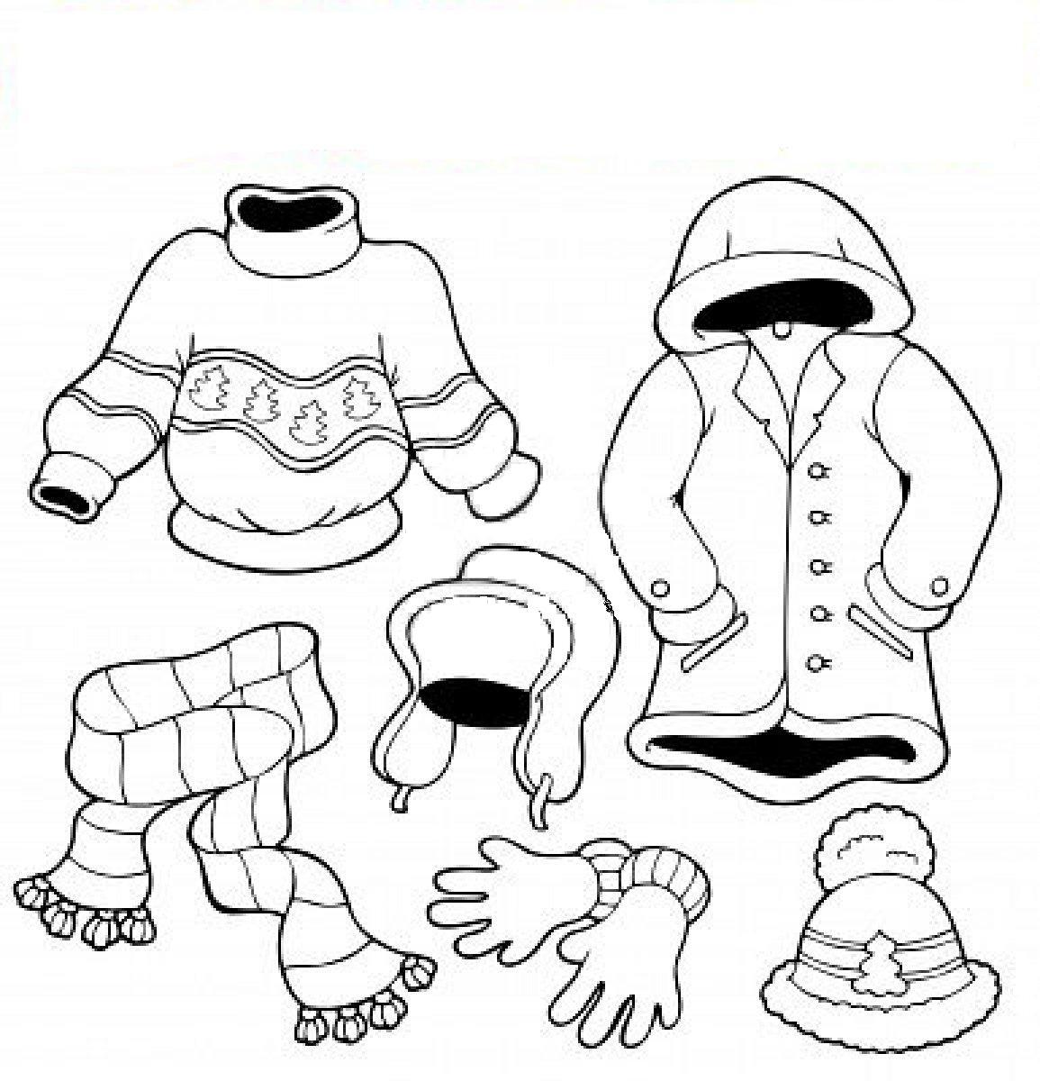COLOREA TUS DIBUJOS: Dibujo de ropa de invierno para colorear