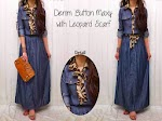 GC1701 Denim Leopard Maxy + Belt SOLD OUT