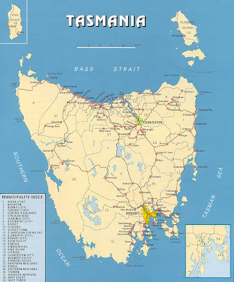 Tasmania Map Picture