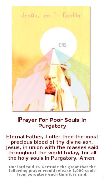 san Juan pablo segundo con oracion en ingles