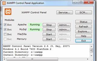 Gambar Control Panel Xampp