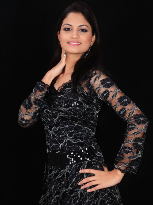 madhulika in black dress latest photos