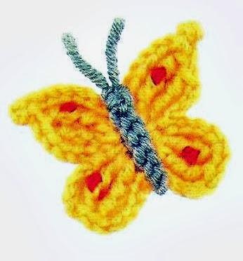 borboletas em croche com receita