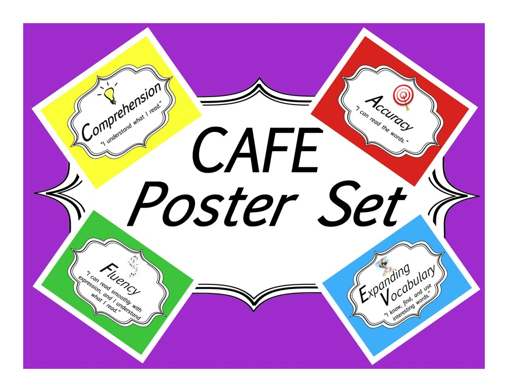 Free Colorful Cafe Posters For Daily 5 on 5 Free Brain Break Printables