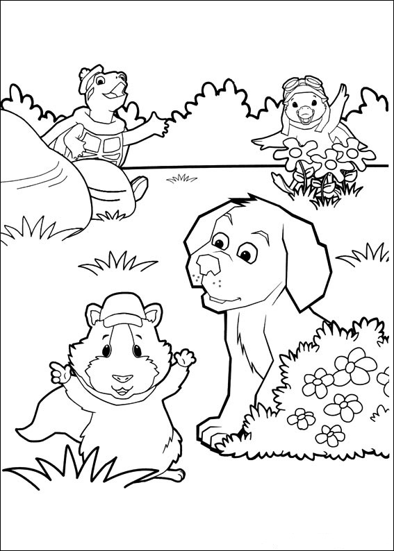 Fun Coloring Pages Wonder Pets Coloring Pages Pets Coloring Page