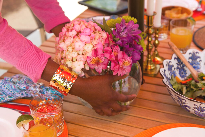 tablescape, flowers