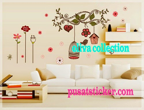 wall sticker new sangkar burung warna - olivacollection