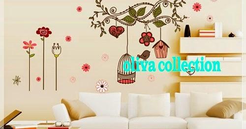 wall sticker new sangkar burung warna - olivacollection