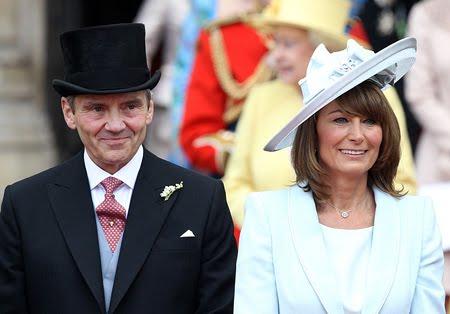 Майкъл и Карол Мидълтън на сватбата на Уилям и Кейт
