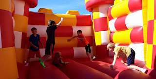 bouncy castle, kids, festival, fair, summer