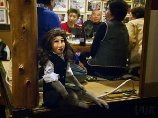 Monkey waiter at Kabuki restaurant