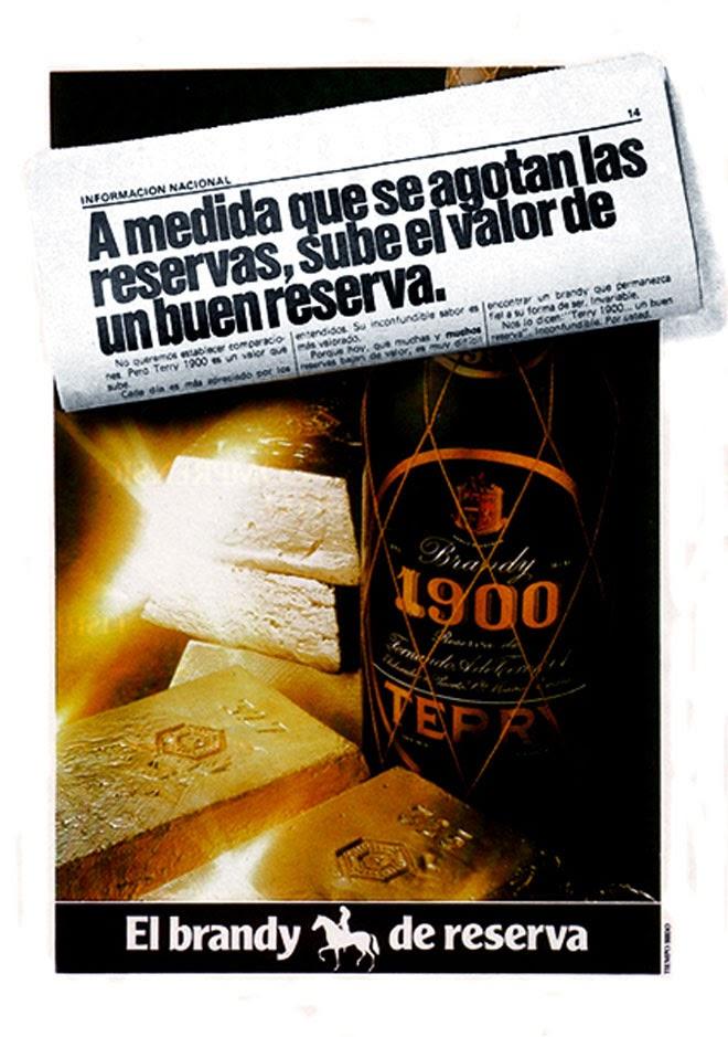 Brandy 1900 Publicidad de los años 80