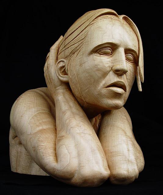 Incríveis esculturas de madeira feitas por Stefanie Rocknak