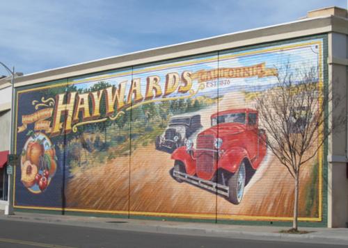 Test driving life murals beautify hayward for California mural