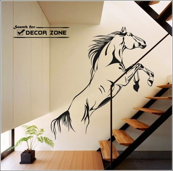 Wall Sticker Jumping Horse