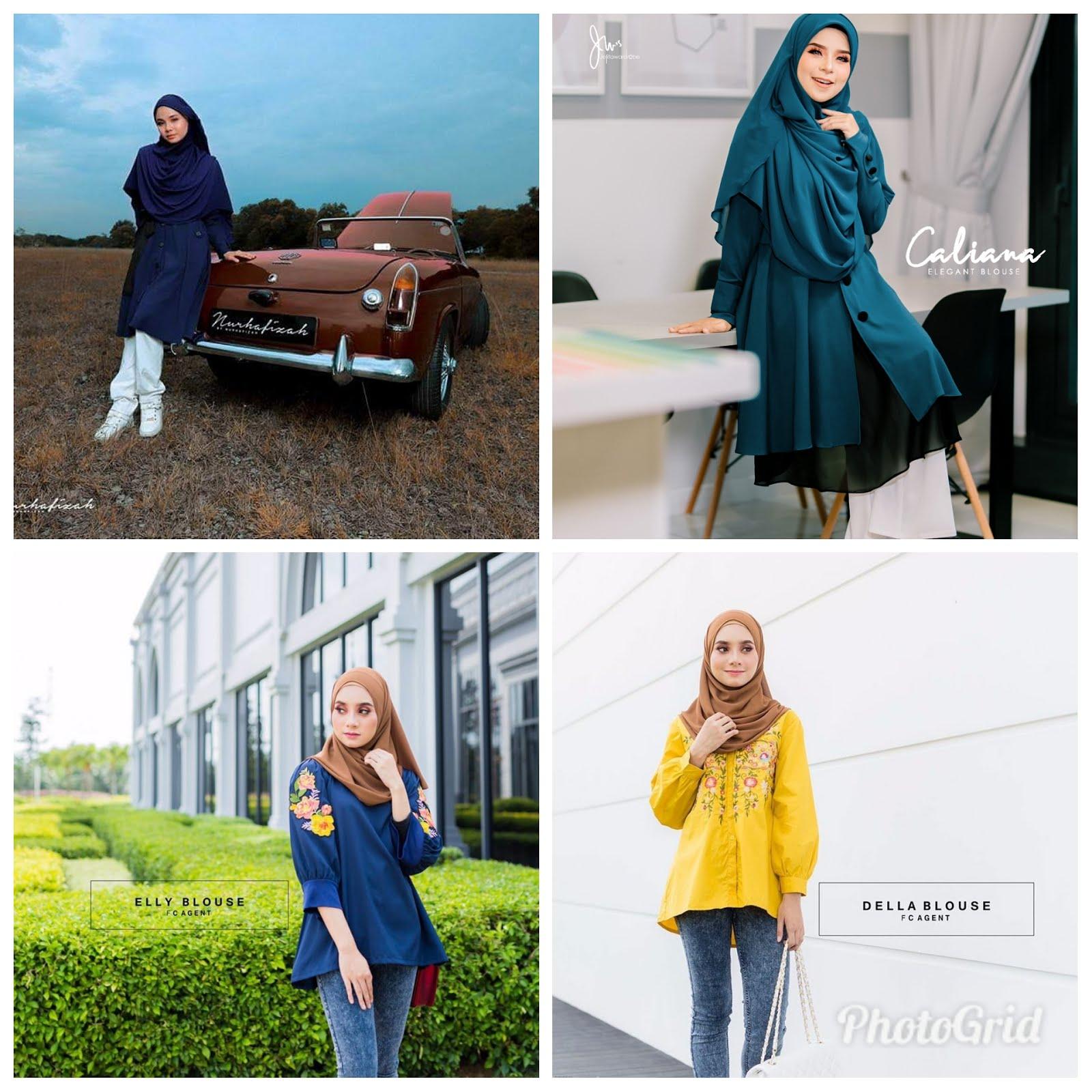Pelbagai jenis koleksi blouse dan tunic semua cantik menawan