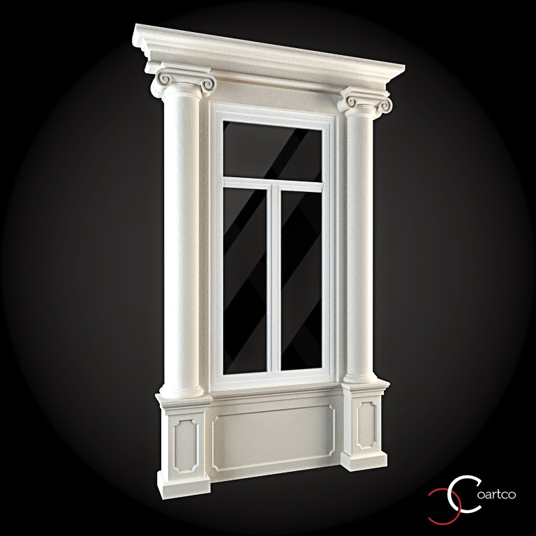 Ornamente Geamuri Exterior, fatade case cu profile decorative polistiren, profile fatada,  Model Cod: WIN-017
