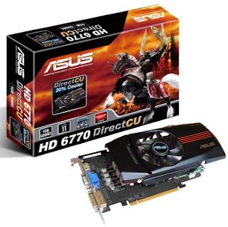 ASUS 6770 DirectCU and HD 6750 Formula graphics cards pic1