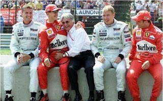 funny picture michael schumacher grabbed by the balls