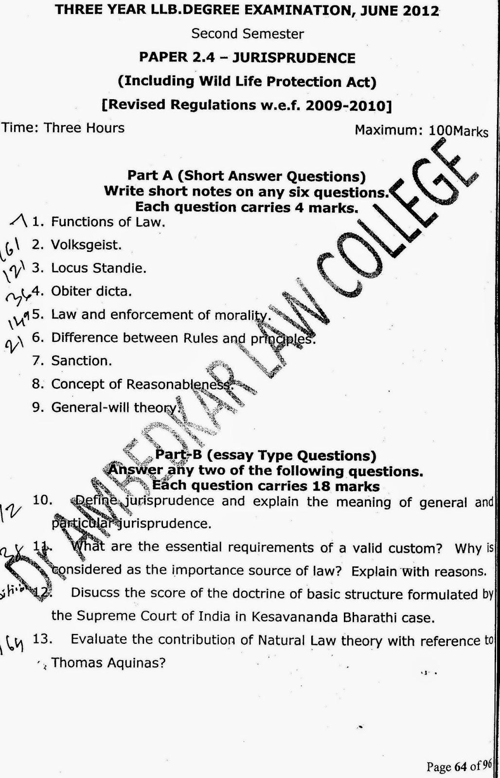 lawdetails pot in semester jurisprudence s v jurisprudence 3 year llb 2012 page 1