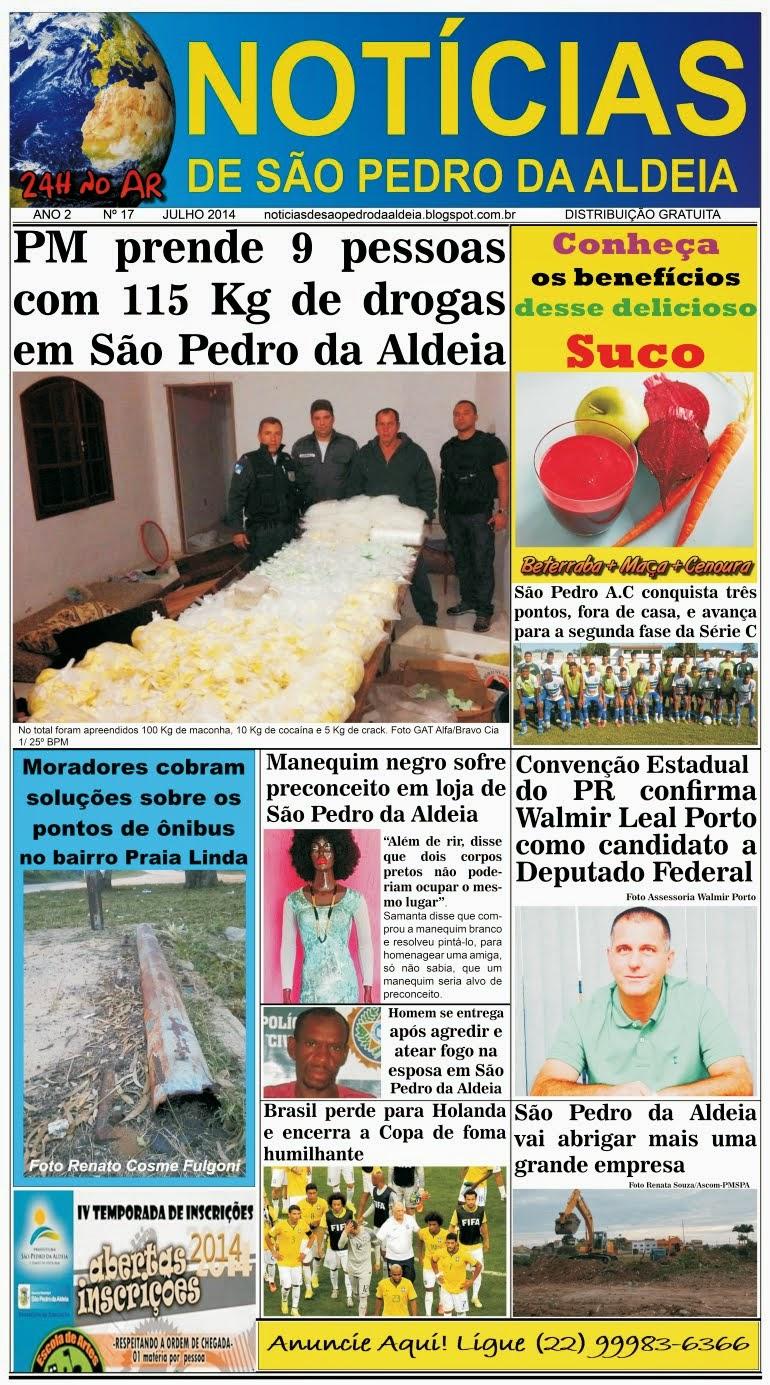 JORNAL NOTÍCIAS DE SÃO PEDRO DA ALDEIA EDIÇÃO DE JULHO 2014