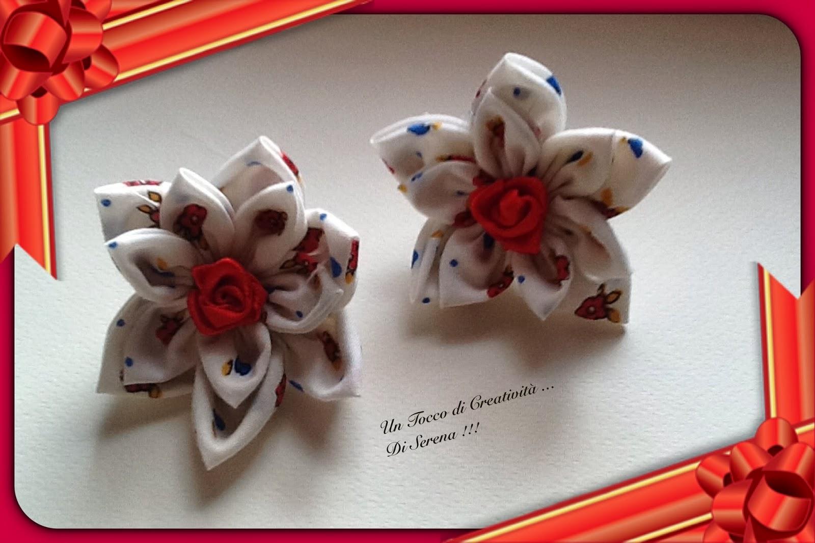 un tocco di creatività ..di serena !!!: fiori di ..stoffa .