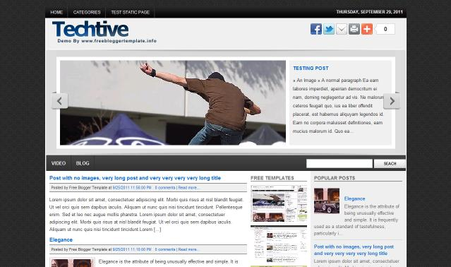 Techtive Blogger Template
