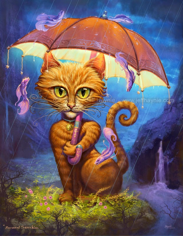 14-Personal-Sunshine-Jeff-Haynie-Cats in Drawings-Paintings-and-Jewelry-www-designstack-co