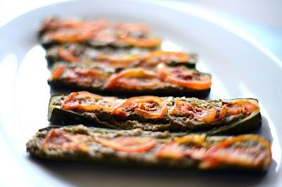 Crimini Mushroom and Mint Stuffed Zucchini Recipe