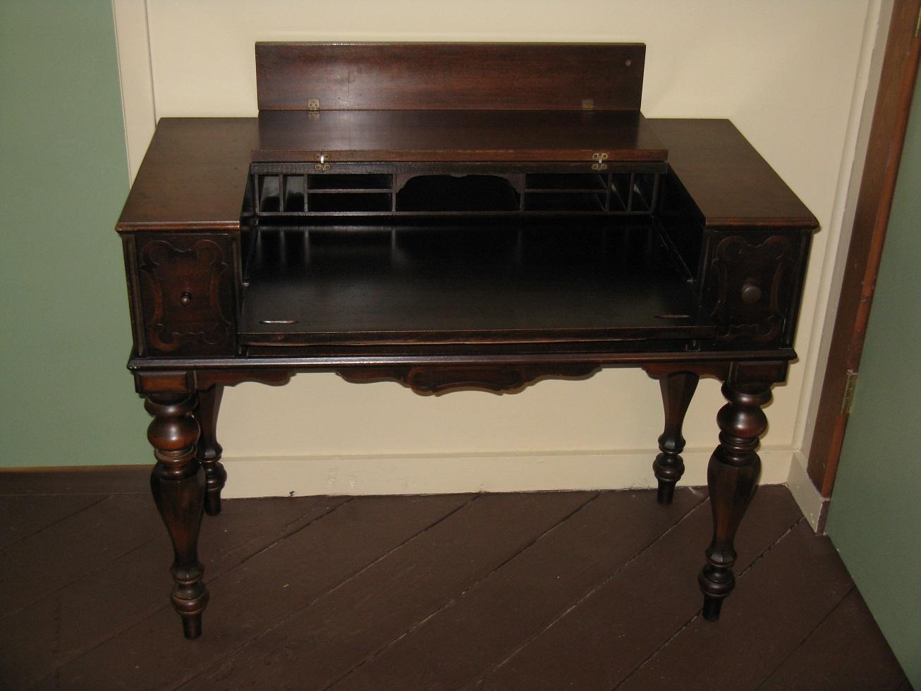 Secretary Desk Dimensions Amish Queen Anne Secretary Desk