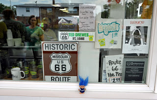 Route 66 Ted Drewes Frozen Custard window Troll