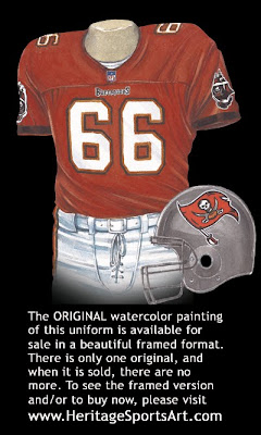 Tampa Bay Buccaneers 1976 uniform