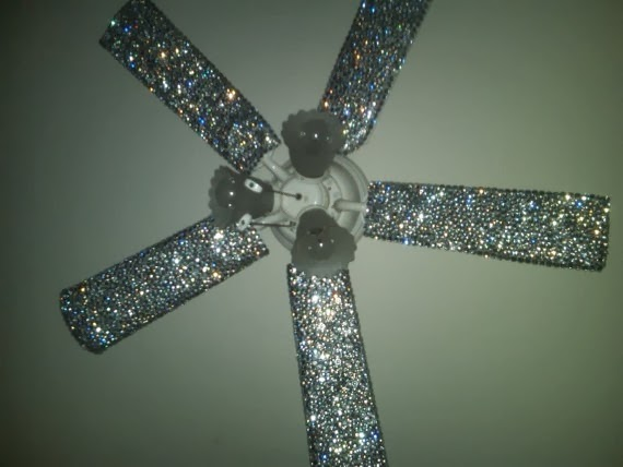 The Glitter Ceiling Fan Idea Is Great Because Those Might Just Be The  Ugliest Thing Of All Time Otherwise.