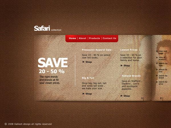 Safari-web-interface