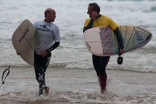 Surfers Watergate Bay, Cornwall