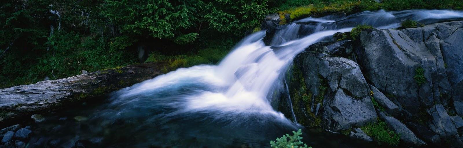 Green jungle waterfall free hd desktop wallpaper