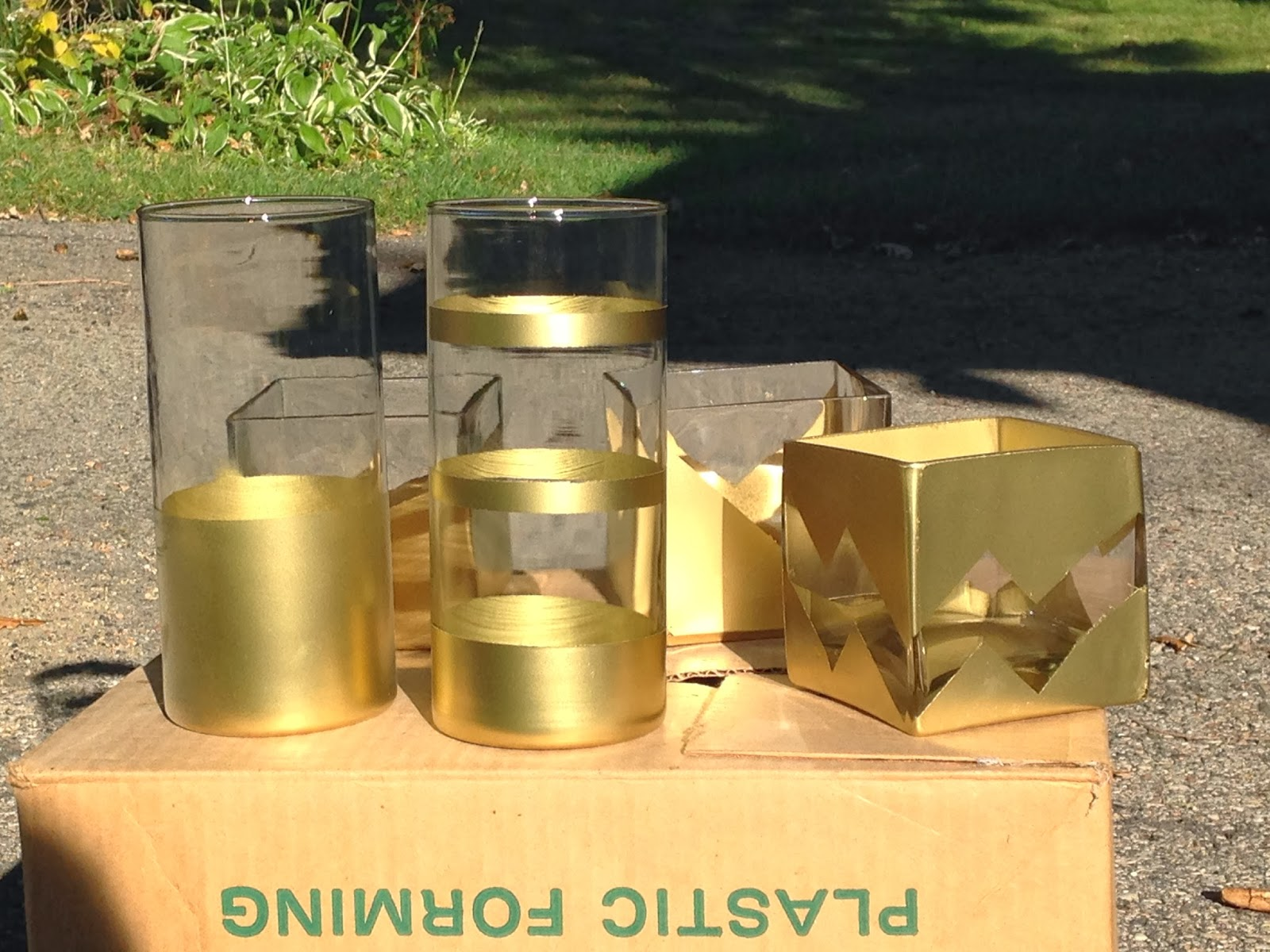 The martha in me gold painted vases my mom started spray painting pumpkins which were awesome for decor reviewsmspy