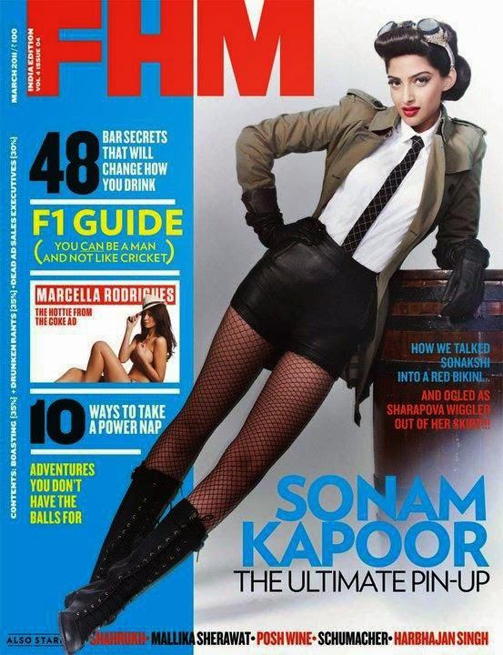 Sonam Kapoor as Sexy Pinup Girl
