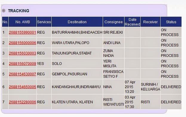 Update Resi Pengiriman Ladyfem Ke Solo, Banda Aceh, Klaten, Pasuruan,