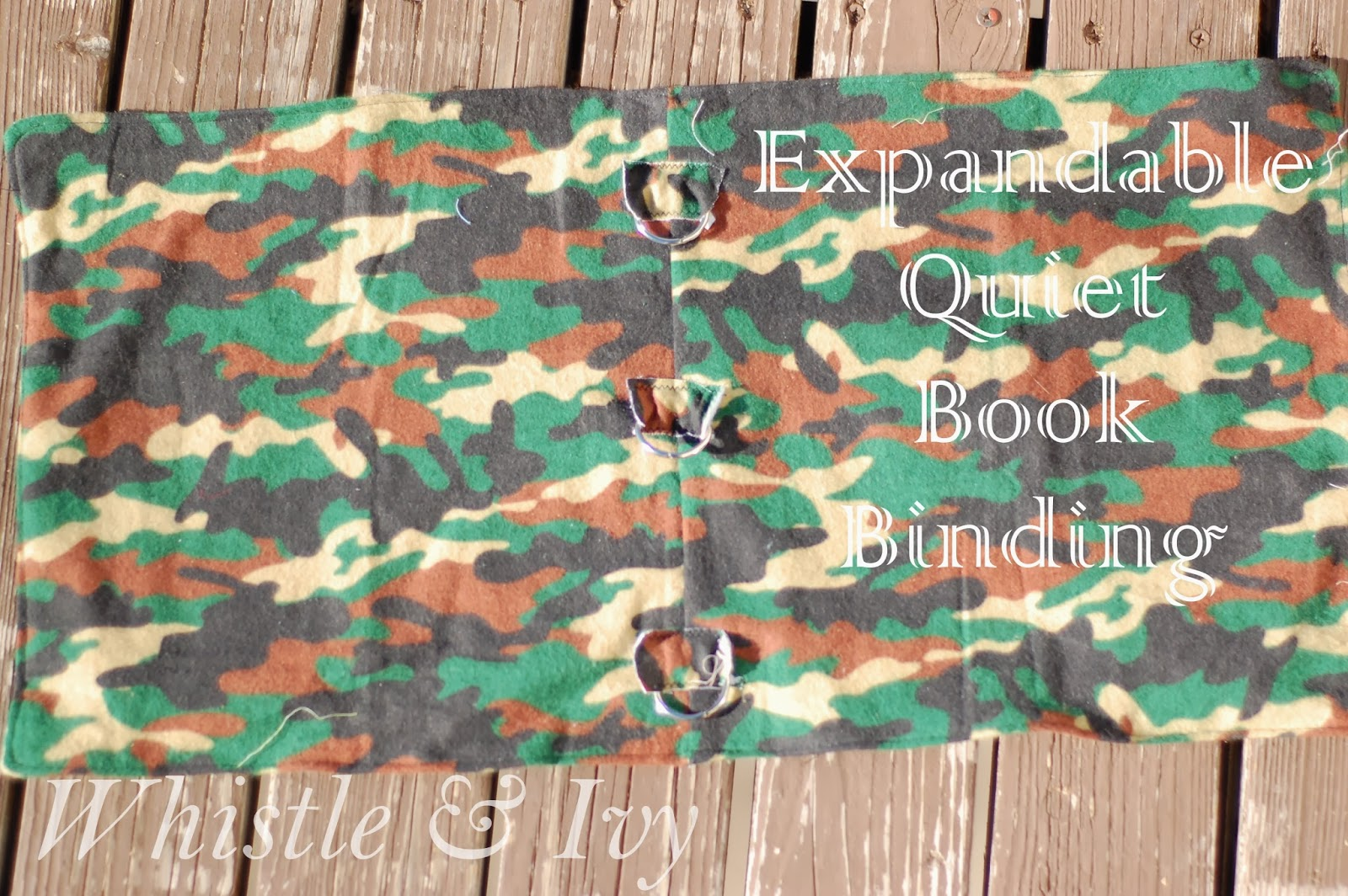 Expandable quiet book binding DIY sewing