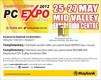 PC Expo Free Starbucks Voucher With Purchase
