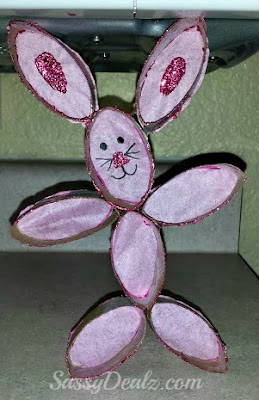 toilet paper roll bunny rabbit craft for kids
