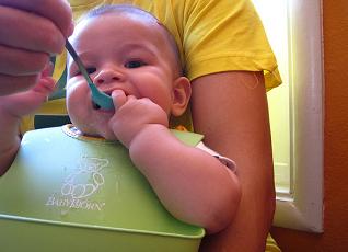 Image: feeding Baby E