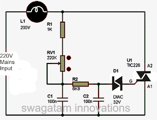 Pleasant How To Make A Simplest Triac Dimmer Switch Circuit Best For Wiring 101 Akebretraxxcnl