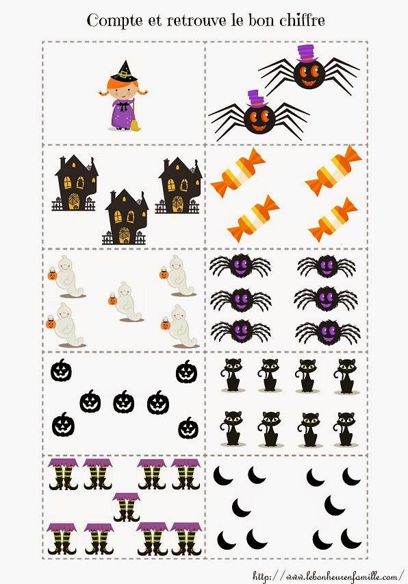 le bonheur en famille petit dossier halloween pour les maternelles. Black Bedroom Furniture Sets. Home Design Ideas